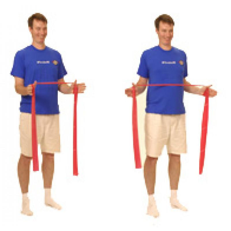 Thera-Band Shoulder Retraction/External Rotation