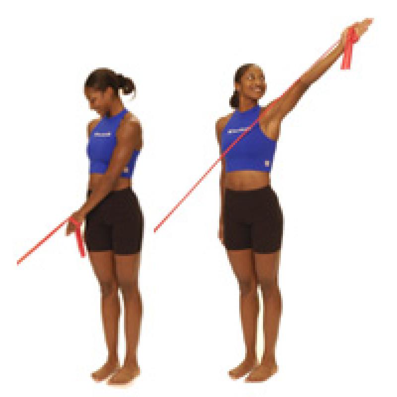 Thera-Band Shoulder Diagonal Flexion (D2)