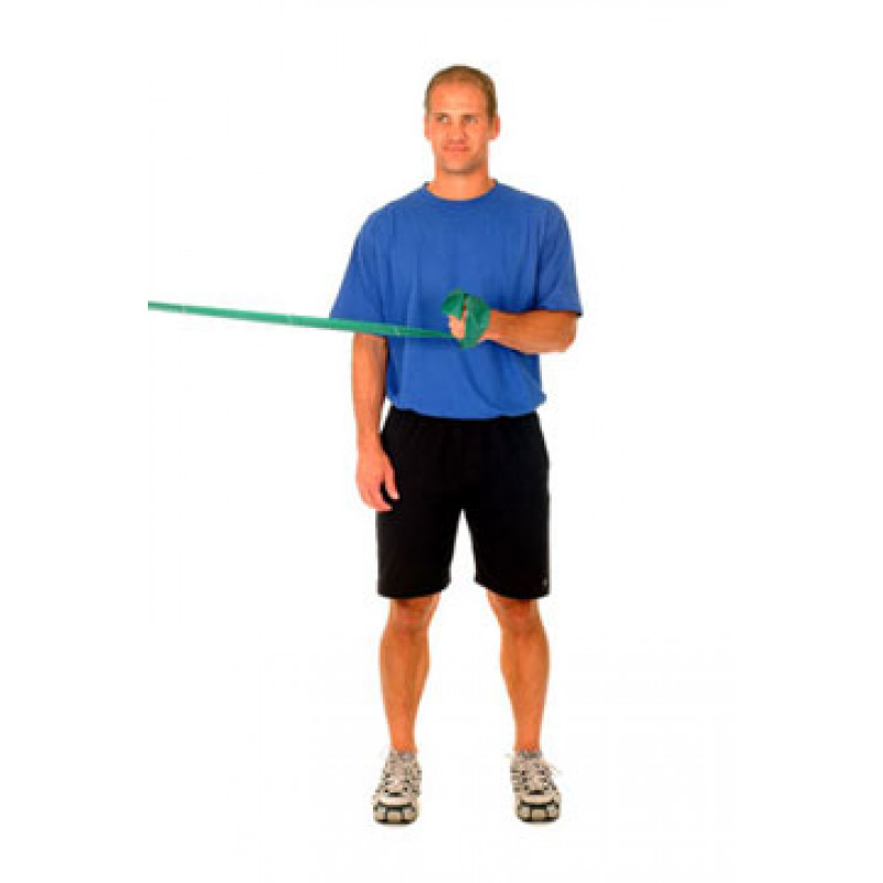 Thera-Band Shoulder External Rotation at 0