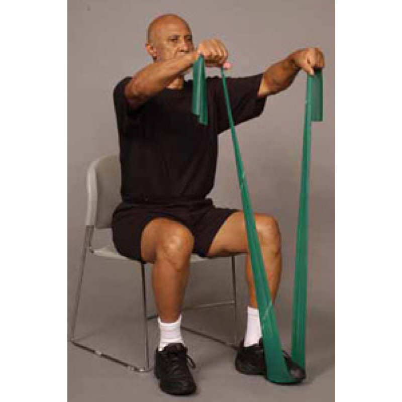 Thera-Band Shoulder Front Raise in Sitting