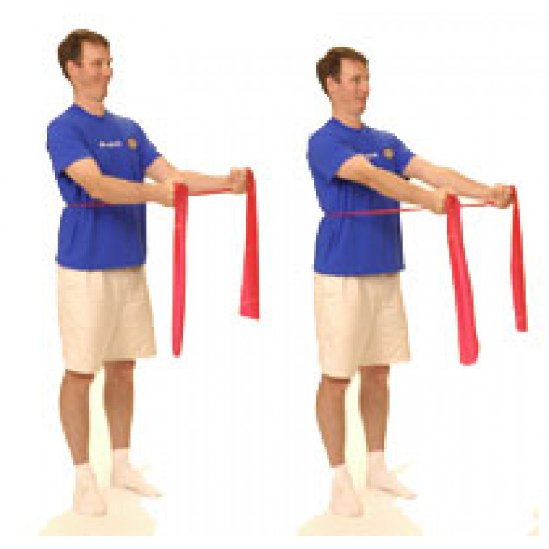 Thera-Band Shoulder Forward Punch in Standing