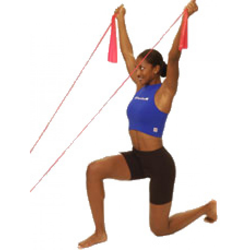 Thera-Band Shoulder Front Raise in Kneeling