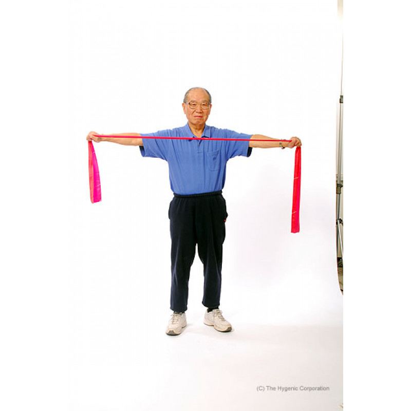 TheraBand Shoulder Horizontal Abduction Standing Older Adult