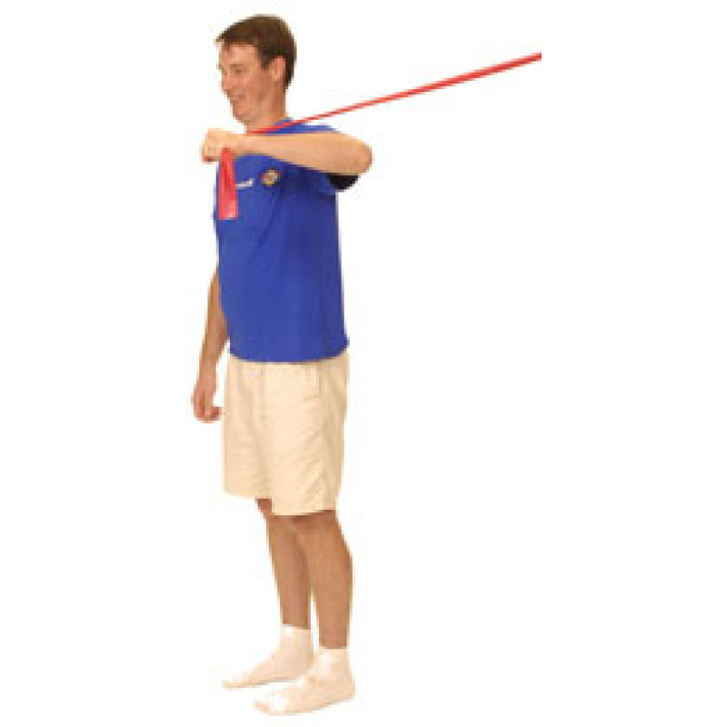 Thera-Band Shoulder Internal Rotation at 90 degrees