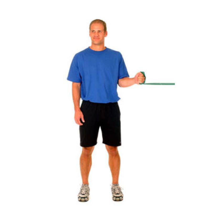 Thera-Band Shoulder Internal Rotation at 0