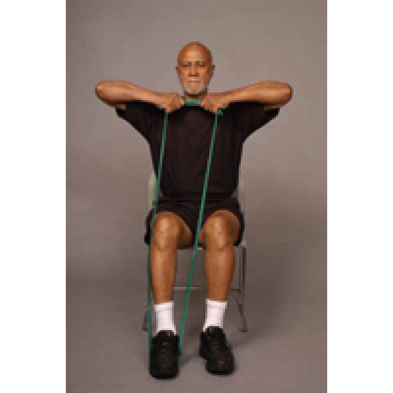 Thera-Band Shoulder Upright Row in Sitting