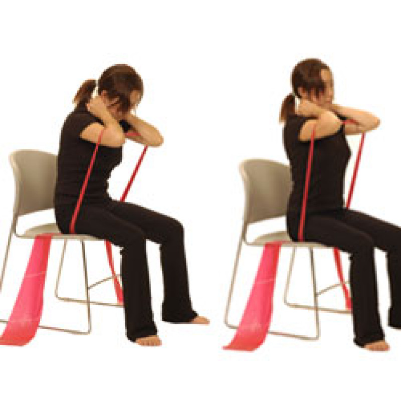 Thera-Band Thoracic Extension in Sitting