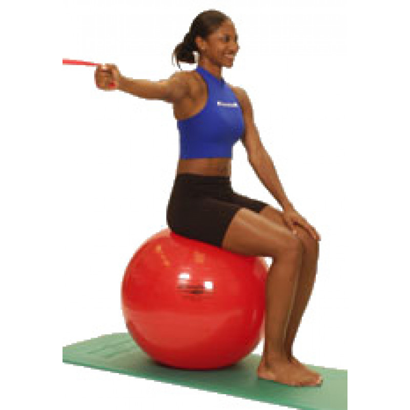 Thera-Band Shoulder Horizontal Adduction-unilateral (sitting on ball)