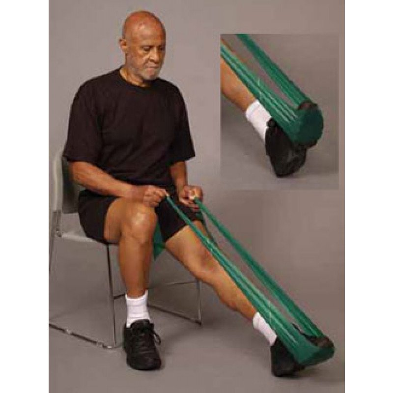 Thera-Band Ankle Plantarflexion in Sitting