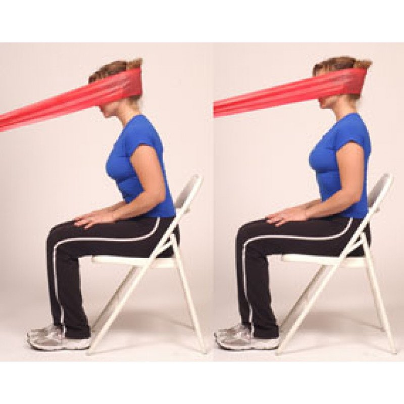 Thera-Band Cervical Extension-Dynamic Isometric (sitting)