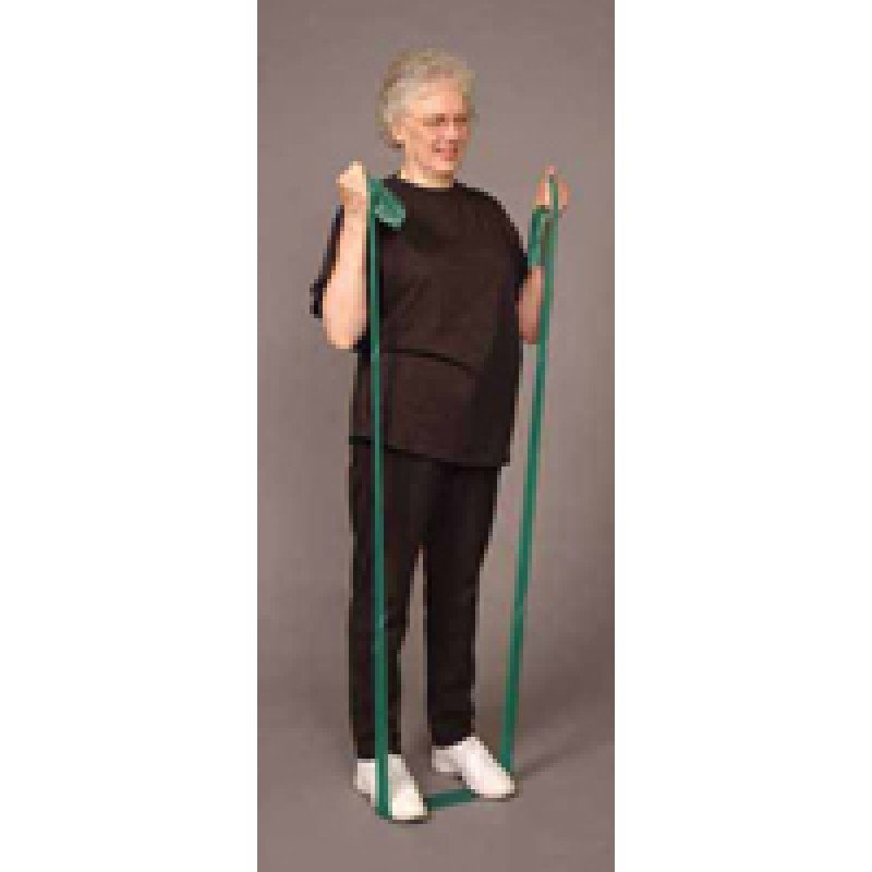 Thera-Band Elbow Flexion (Bilateral) in Standing