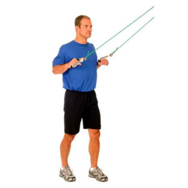 Thera-Band Shoulder Lat Pull Down (standing)