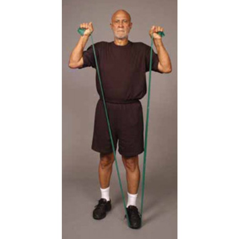 Thera-Band Shoulder Overhead Press in Standing