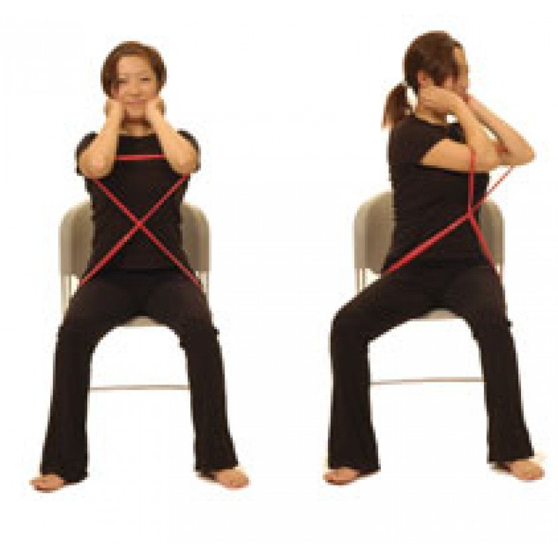 Thera-Band Thoracic Rotation in Sitting