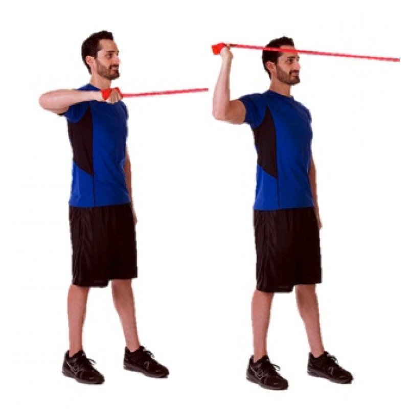 TheraBand CLX Shoulder External Rotation at 90