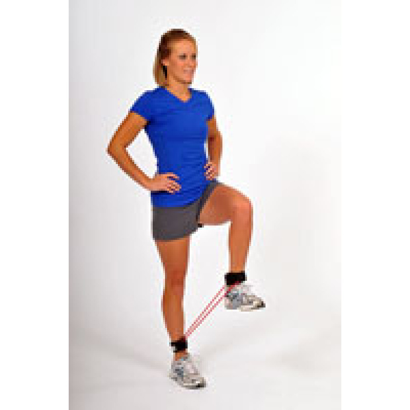 Thera-Band Tubing with Cuffs Standing Hip Lift