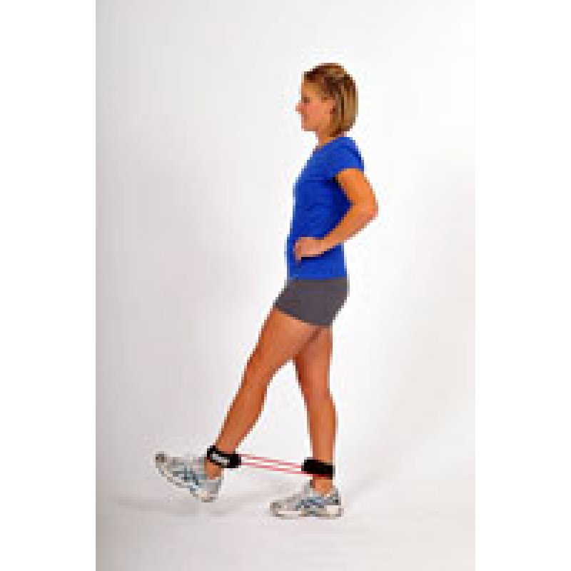 Thera-Band Tubing with Cuffs Hip Flexion Kick
