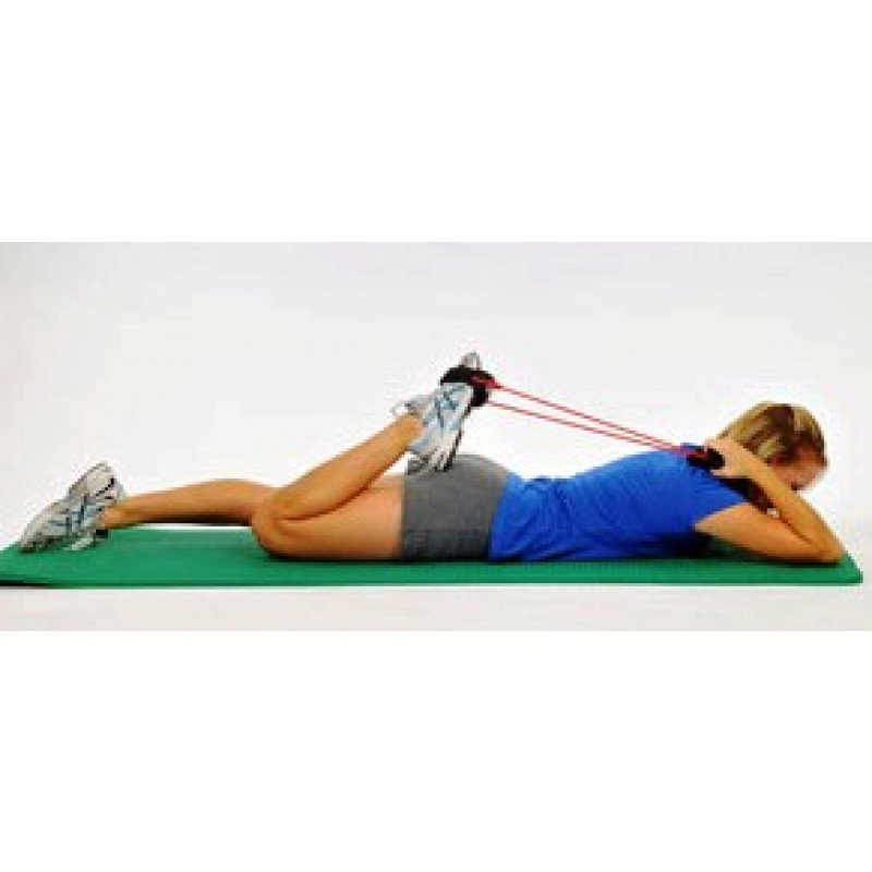 Thera-Band Tubing with Cuffs Quadriceps Stretch
