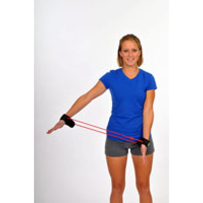 Thera-Band Tubing with Cuffs Shoulder Abduction