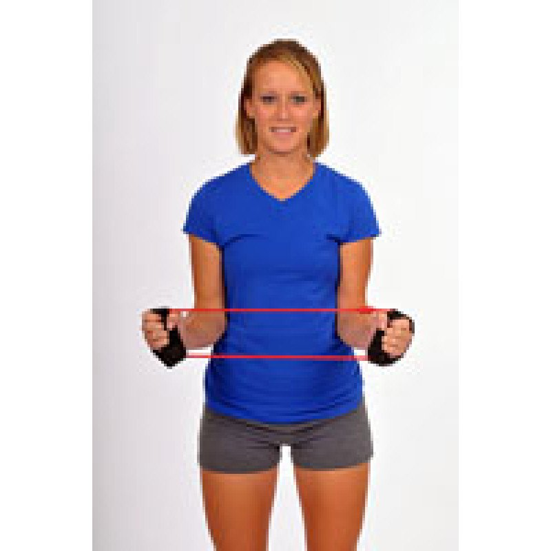 Thera-Band Tubing with Cuffs Shoulder External Rotation