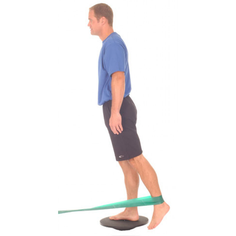 Thera-Band Wobble Board + Hip Extension with Band