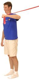 theraband shoulder internal rotation at 90 degrees