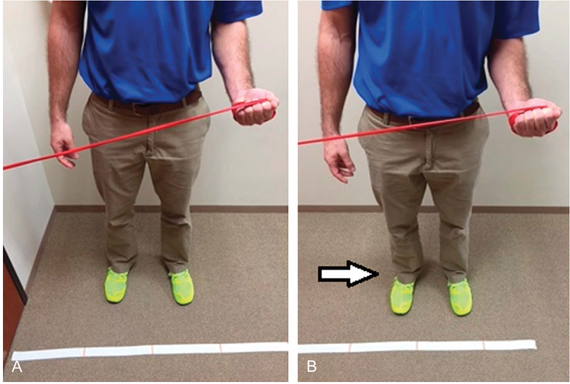 Eccentric supination with TheraBand