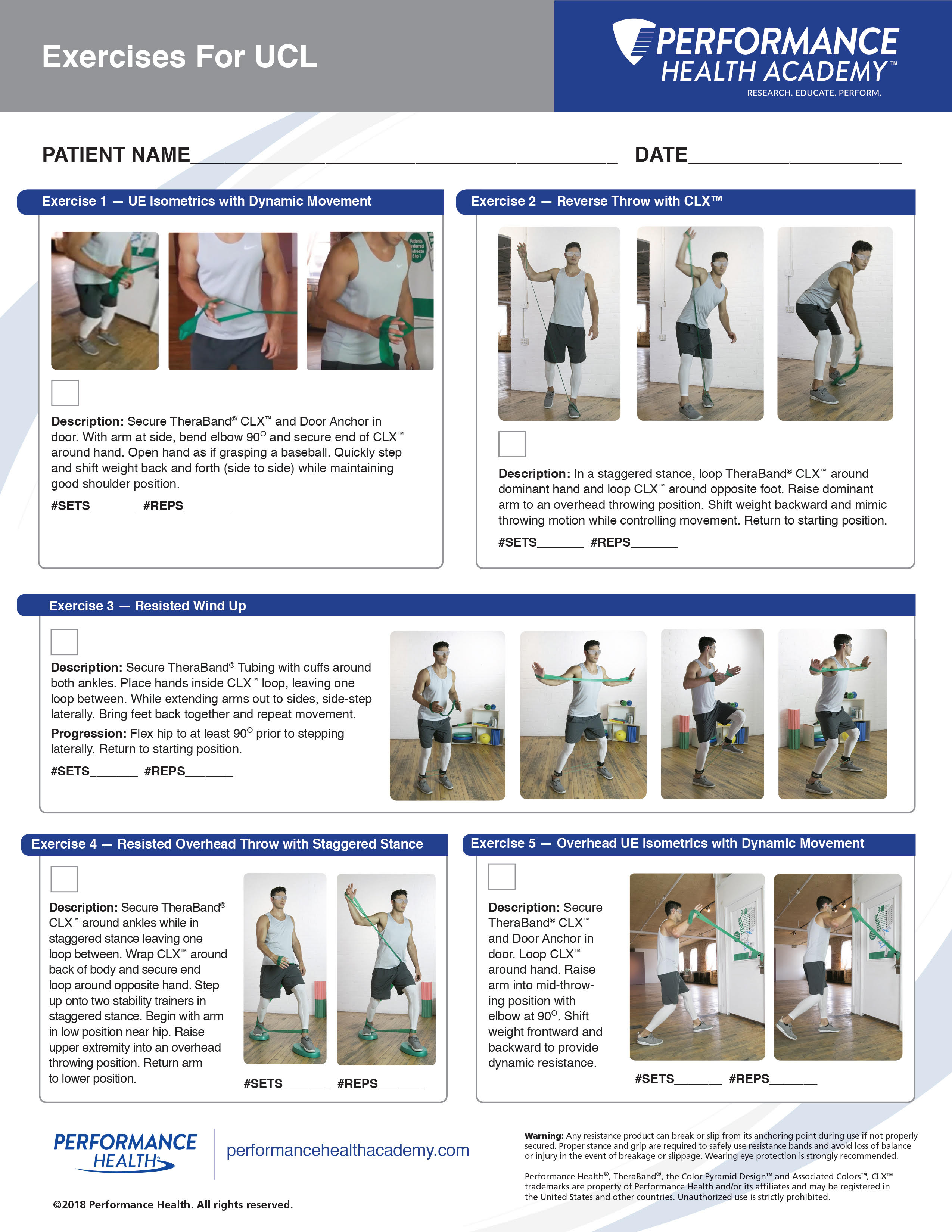 Exercises for UCL